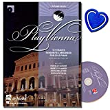play vienna piano dix bekannte titre de johann strauss p?re et fils avec backing track cd le beau danube bleu kaiser valse piano en roses du sud avec coeur note color?e pince