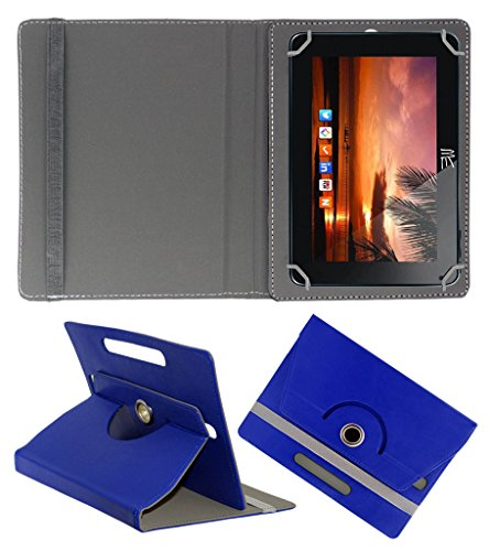 Acm Rotating 360° Leather Flip Case For Hcl Me U2 Tablet Cover Stand Dark Blue  available at amazon for Rs.149