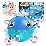 BelleStyle Badewannenspielzeug, Blase Badespielzeug Seifenblasen Maschine Automatisch Musik Bubble Machine Spielzeug Blauwal Spielzeug für die Badewanne für Kinder