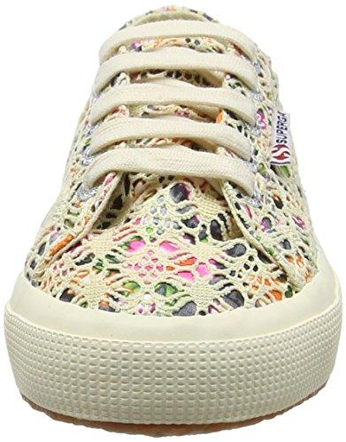 Superga 2750 Laceflowersw, Sneakers basses mixte adulte Multicolour (multicolour Beige)