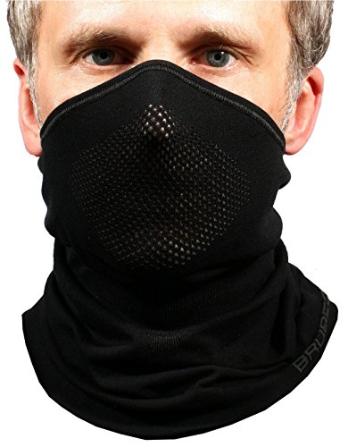 BRUBECK® X-Pro halbe klimaoaktive Gesichtsmaske Sturmhaube Sturmmaske, Größen: L/XL; Farbe: X-Pro / Black