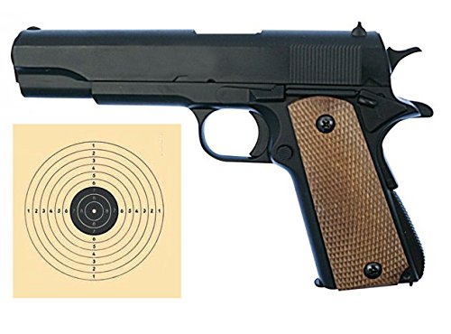 SET: Colt 1911 Vollmetall 0,5 J 6 mm BB Softair + G8DS® Zielscheibe Colt Bb