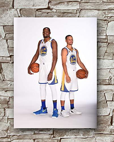 Zero.o Poster Kevin Durant Stephen Curry Golden State Warriors Standardgröße 45,7 x 61 cm NBA Golden State Warriors