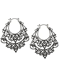 Young & Forever Tribal Muse Collection Oxidized Silver Plated Drop & Danglers Earrings For Girls / Women E596