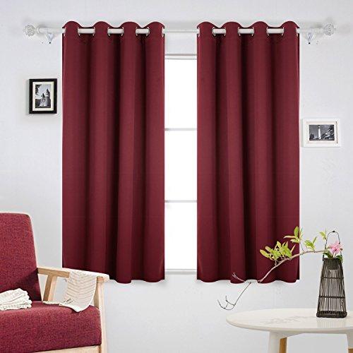 Deconovo tende oscuranti tende da sole tende termiche isolanti per moderna casa 140x175 cm rosso 2 pannelli