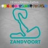 Circuit Zandvoort 14x12cm Aufkleber GP Niederlande Bumper Sticker Park Formel 1 in 18 Farben