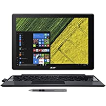 """Acer SW512-52-55YD Switch 5, 12.0"""" QHD Touch 2-in-1 Laptop/Tablet, 7th Gen Intel Core I5-7200U, 8GB LPDDR3, 256GB SSD, Active Stylus, Black"""