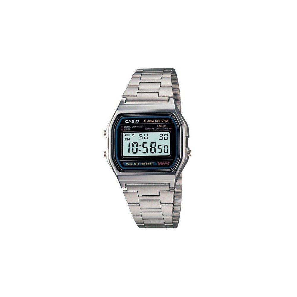 CASIO A158 Stainless Steel Bracelet Watch