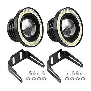 LED-Nebelscheinwerfer - 1 Paar Universal 30W LED COB Angel Eyes, Tagfahrlicht, Nebelscheinwerfer für Auto (2.5in 3.0in und 3.5in) (Größe : 3.5in)