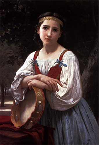 Das Museum Outlet–Gypsy Girl With A Basque Drum–A3Poster Drums Das Wort