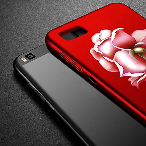 Vandot Huawei P8 Lite Coque de Protection Etui Transparent Antidérapant Pour Huawei P8 Lite Etui Protection Dorsale Étui Slim Invisible Housse Cover Case en TPU Gel Silicone Hull Shell-Blanc Rose 02-Noir