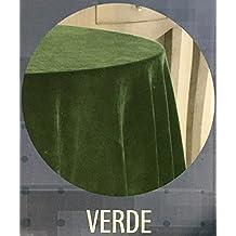 EDEN DELUXE FALDA DE MESA CAMILLA TERCIOPELO RASCHEL Color VERDE, 100-(243cm)