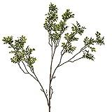 Zweig Buchs Pflanze Kunstblume 80cm grün Kunstpflanze Deko