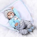Colorful Spielpuppe Babypuppe Lebensechte Weiche Vinyl Real Life Neugeborenes Baby Puppe Silikon Puppe Lächeln Reborn Baby