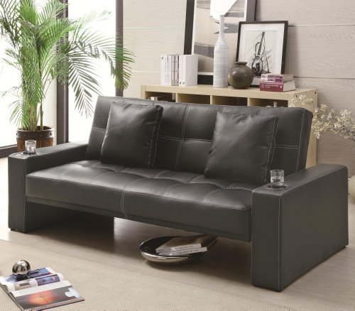 casual-black-faux-leather-adjustable-futon-sofa-bed-by-coaster-home-furnishings