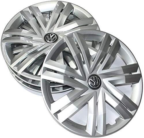 Volkswagen 2G0071454 Radkappen Set (4 Stück) Radzierkappen 14 Zoll Radzierblenden Brillantsilber