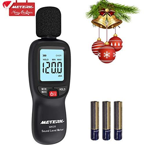 Fonometro Meterk Fonometro Gamma 30-130dB a Risposta Rapida Ampio Schermo LCD con...