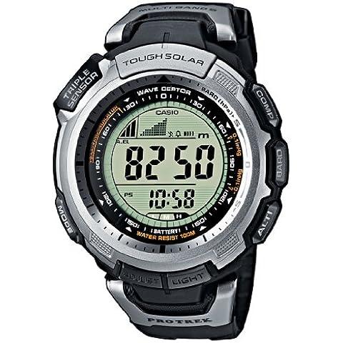 Casio PRO TREK - Reloj digital unisex de cuarzo con correa de resina negra (altímetro, alarma, brújula) - sumergible a 100
