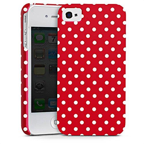 Apple iPhone 6 Hülle Case Handyhülle Punkte Rockabilly Kleid Premium Case glänzend