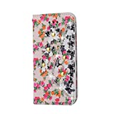 Hozor Apple iPhone 5 / 5S / SE (4.0 Zoll) Hülle - Hybride Bunter Blumen Muster & Diamant Serie Flip Case Schutzhülle PU Lederhülle Luxus Elegant Glänzend Etui
