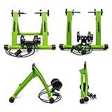 Relaxdays Rollentrainer Inklusive Schaltung 6 Gänge für 26-28 zoll bis 120 kg Belastbar Indoor Fahrradfahren Stahl, Grün, 10018322_53 - 3