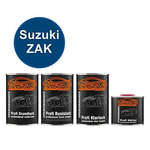 Preisvergleich Produktbild TRISTARcolor Autolack Set Dose spritzfertig für Suzuki ZAK Beam Blue Perl Grundlack + Basislack + 2K Klarlack 3, 5L
