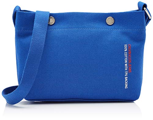 Calvin Klein Jeans Damen Canvas Utility Cb W/Snaps Clutch, Blau (NAUTICAL BLUE), 6x15x24 cm -