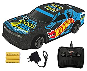Hot Wheels Remote Control Rechargeable Racing Car,Black