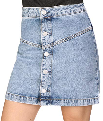 Calvin Klein Jeans Button Front Tape W Rock Everest Blue - Calvin Klein Jeans-rock