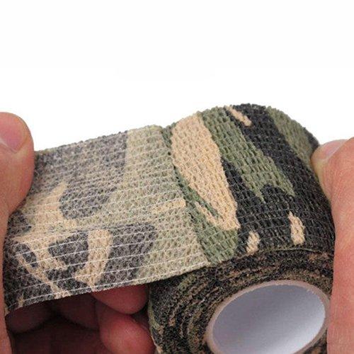 ruiycltd Stealth Camo Tape 5 cm x 4,5 m, wasserfest, für Jagd, Camping, Wandern, Camouflage, Thanksgiving Geschenk multi