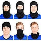 The Friendly Swede 2er-Set Sport-Balaclava Sturmmaske - Skimaske Motorradmaske (Nordische Version, Schwarz)