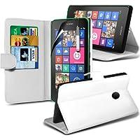 (Bianco) Nokia Lumia 630 elegante Faux Carta di Credito e