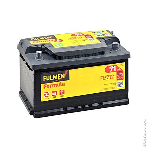 Fulmen - Batterie voiture FB712 12V 71Ah 670A - Batterie(s) - 572409068 ; E
