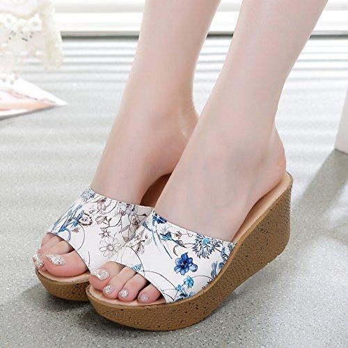 ZYUSHIZ Ding ziehen Frau Hausschuhe Sandalen Strand Outdoor der minimalistischen  Stil Koreanische Version Prägung Lan