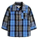ESPRIT Baby - Jungen Hemd 095EEBF001, Kariert, Gr. 74, Blau (BLUE 430)