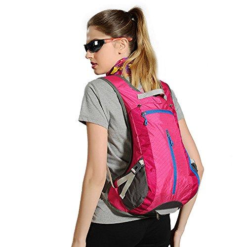 LWJgsa Männer Und Frauen Im Rucksack Wasserabweisend Wandern Tasche Reitsport Reisegepäck Tasche rose red