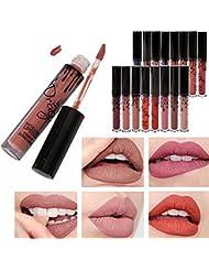 Demarkt Couleurs Maquillage Waterproof à Lèvres Liquide Beauté Brillant Rouge à Lèvres Lot de 16PCS