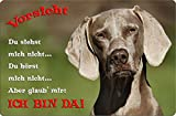 +++ WEIMARANER - Metall WARNSCHILD Schild Hundeschild Sign - WEI 02 T2