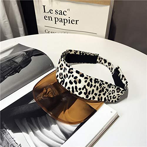 POIUIU Visera Moda De Verano Grano De Leopardo Borde