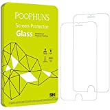 2-Pack Cristal Templado iPhone 6S 6, POOPHUNS Protector Pantalla iPhone 6S 6, Protector Cristal vidrio Templado para iPhone 6S 6, 3D Touch Compatibles, Ultra Resistente a Golpes y Rayado, Alta Transparencia, Sin burbujas