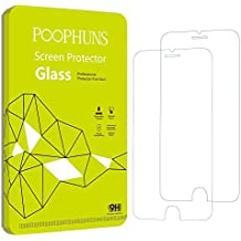 Cristal Templado iPhone 6S 6, POOPHUNS 2-Pack, Protector Pantalla iPhone 6S 6, Protector Cristal vidrio Templado para iPhone 6S 6, 3D Touch Compatibles, Ultra Resistente a Golpes y Rayado, Alta Transparencia, Sin burbujas
