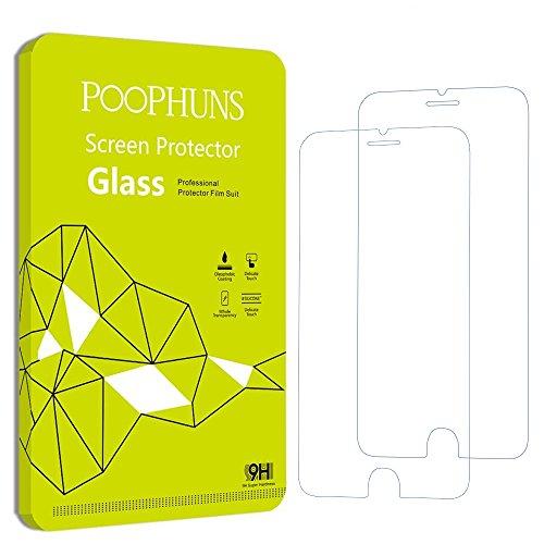Cristal Templado iPhone 6S 6, POOPHUNS 2-Pack, Protector Pantalla iPho