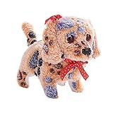 Teepao Walking Barking Wagging Tail automatico cucciolo di cane giocattolo a batteria con luce LED occhi per bambini, ragazzi e girls-forward, indietro e Nod Orange