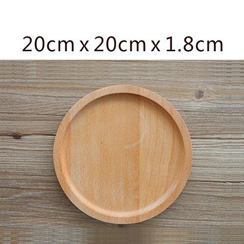 WANGS Holz Früchte, Teller Tablett Snack Teller Tablett Tee Tablett B