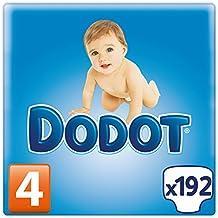 Dodot - Pañales, talla 4 (8-14 kg), 192 pañales
