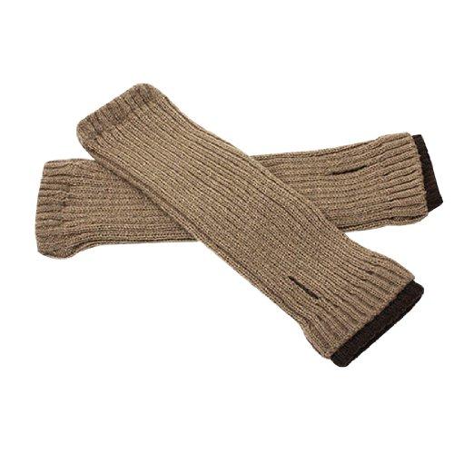 Mitaines chauffe homme Gants en tricot Design texturé Couleur café-Kaki foncé *