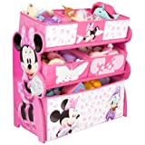 Disney Minnie Mouse Multi Spielzeugkiste Organizer Minni Maus Spielzeugbox Holz