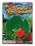 LG-Imports Froschspiel Jumpy Froggies mit 3 Fröschen auf Karte ca. 17x12,5cm