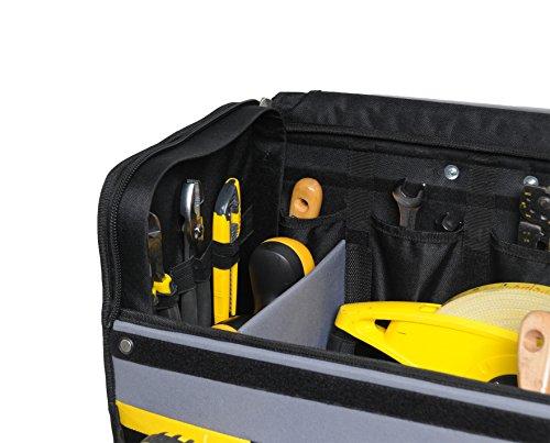 Stanley Werkzeugkoffer / Werkzeugtasche mit Rollen, (44.5x25.5x42cm, wasserfester Kunststoffboden, Trolley aus strapazierfähigem und robustem 600x600 Denier Nylon, viele Verstaumöglichkeiten) 1-97-515 - 7