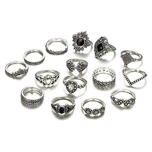 Namgiy Ring Eleganter Schmuck Accessoire für Frauen Freundin Geschenk (Diamant-schwester-ring)